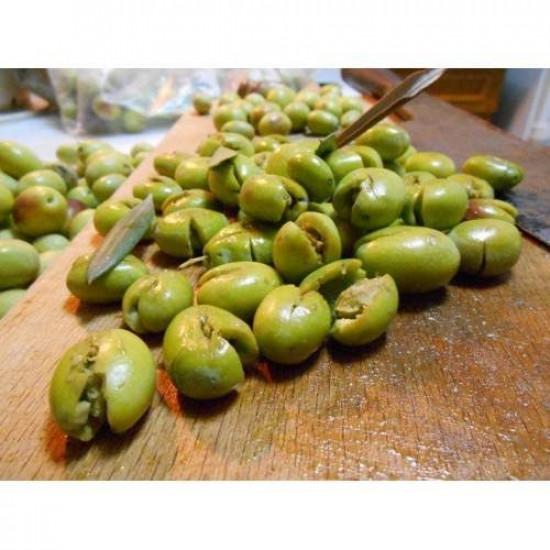 Yeşil Zeytin ( Kırma ) Net 3500 gr